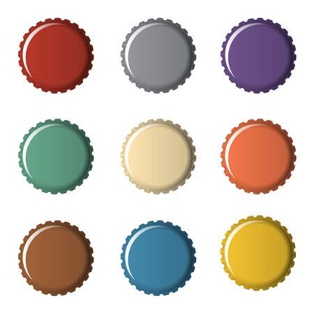 bottle cap: Colorful bottle caps