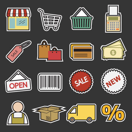 package printing: shopping icon