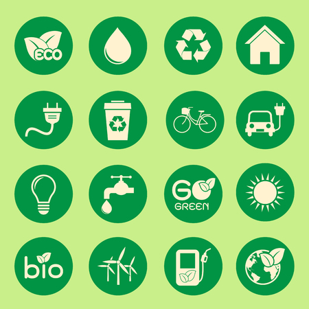 go green: Ecology icon Illustration
