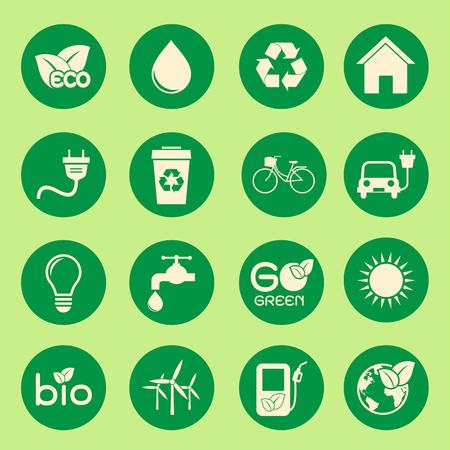 Icône de l'écologie Illustration