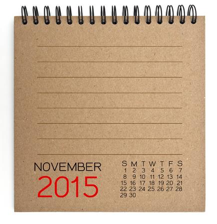 2015 Calendar brown Texture Paper