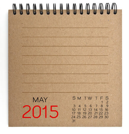 2015 Calendar brown Texture Paper photo