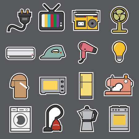 home appliances icon Illustration
