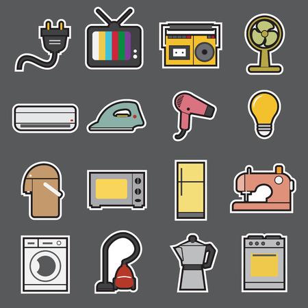 home appliances icon Ilustracja