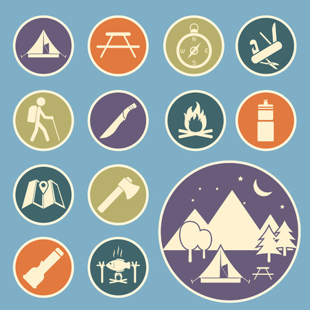 camping equipment: camping equipment icon