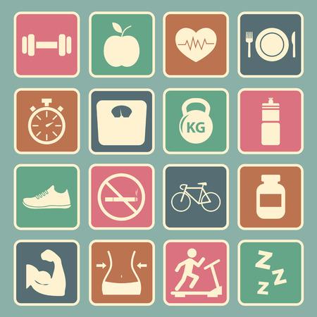 Icon Health et Fitness Illustration