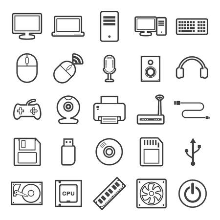 lcd monitor printer: computer icon