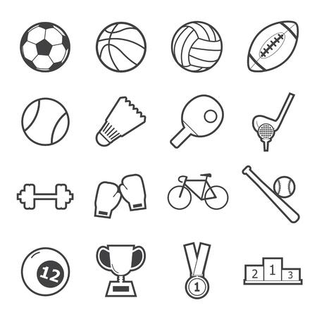 deportes colectivos: icono del deporte Vectores
