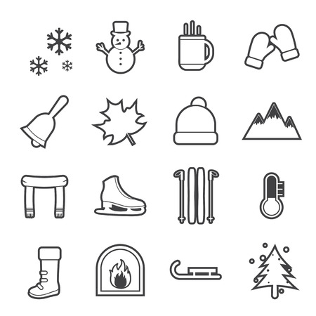ice mountain: winter icon Illustration
