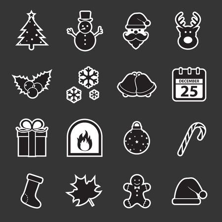 campanas de navidad: icono de la Navidad Vectores