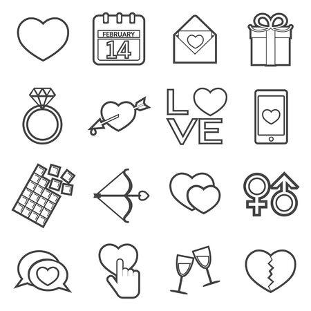 promising: love icon Illustration