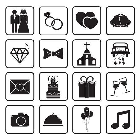 wedding icon Ilustracja