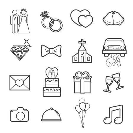 wedding icon Illustration