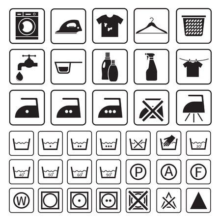 laundry machine: laundry and washing icon Illustration