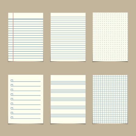 set of  vintage line paper sheets