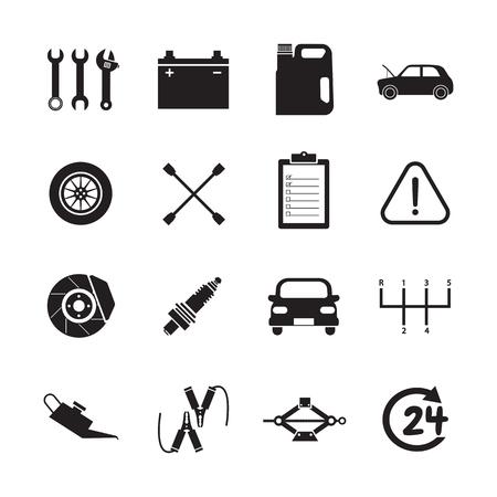 car brake: car service icon
