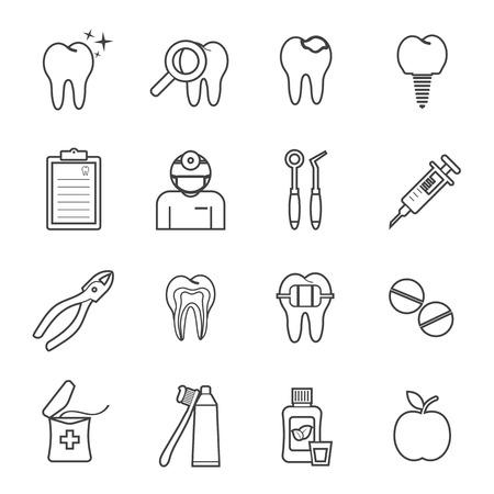 dentiste icône Illustration