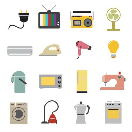 iron fan: home appliances icon Illustration
