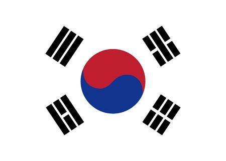 korea flag: South Korea flag vector