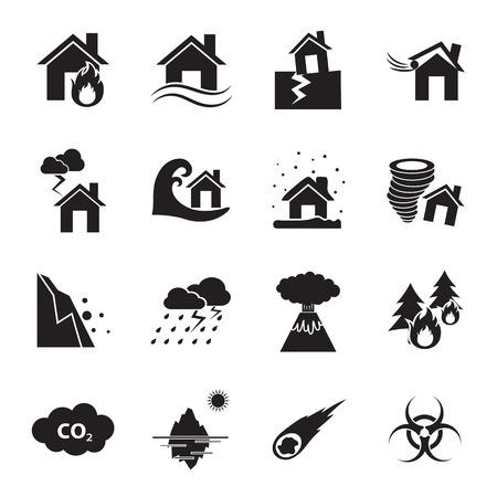 disaster icon  イラスト・ベクター素材