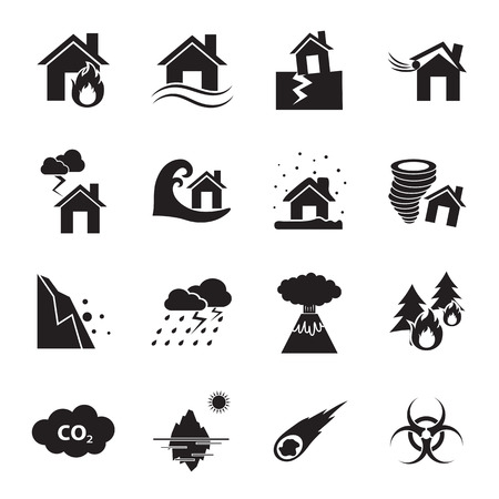 disaster icon Ilustrace