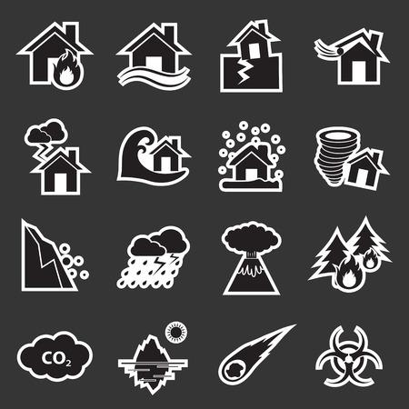 hurricane disaster: disaster icon Illustration
