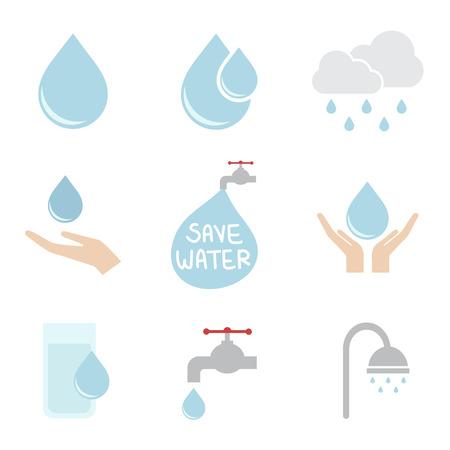 ahorrar agua: icono de agua