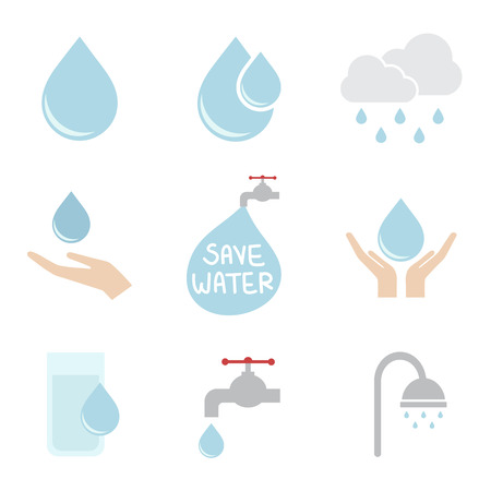 clean water: water icon Illustration