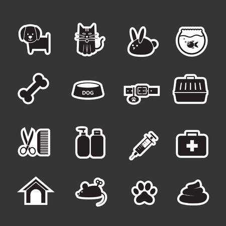 huellas de perro: icono de veterinaria
