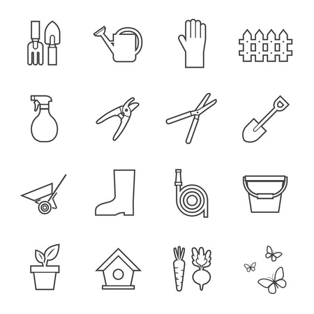 watering hose: garden tools icon