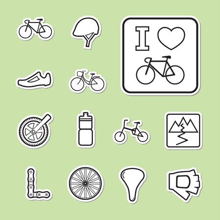 biking glove: bicycle icon Illustration