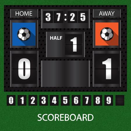 score board: sports score board with timer