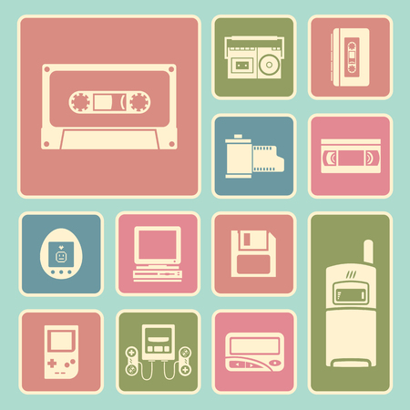electronic 80s: gadget of 90s  icon