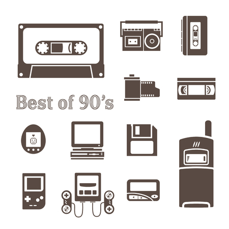 90s: gadget of 90s  icon