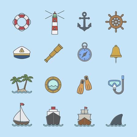Marine et icône nautique