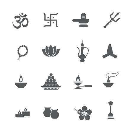 Hindoue icône vecteur