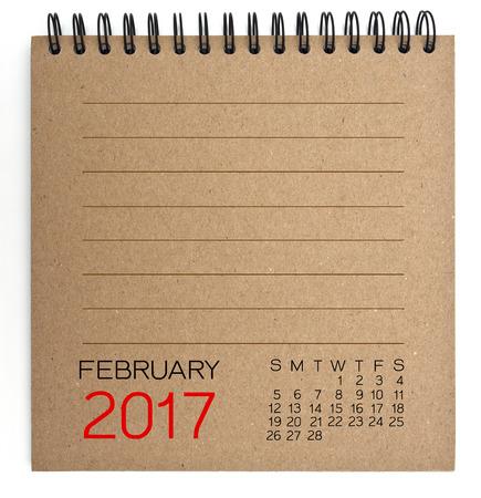 2017 Calendrier sur le brun texture du papier
