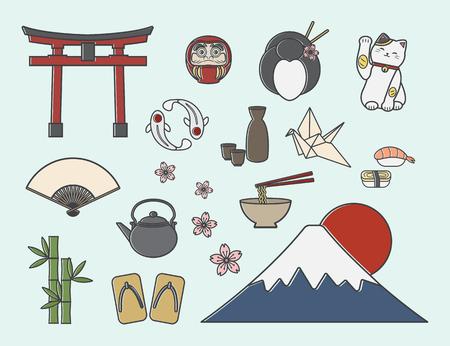 Ensemble de symboles japonais
