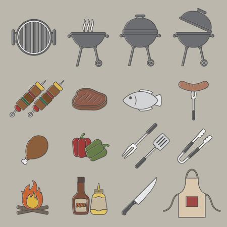 Barbecue grill icon. Illustration