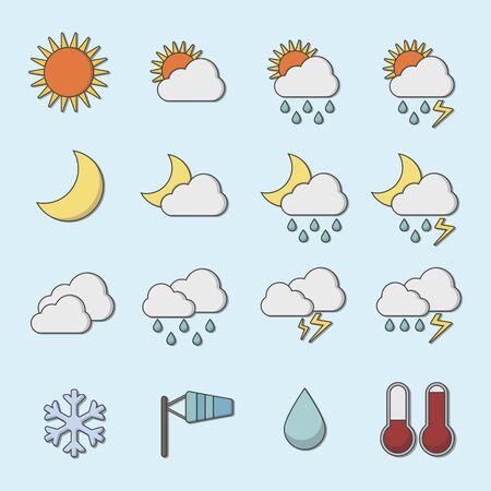 Icône météo. Illustration