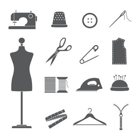 ensemble d'icônes de couture