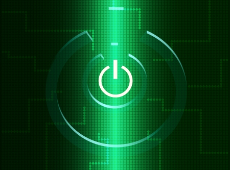 turn on computer digital symbol Stock Vector - 17511462