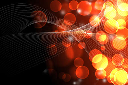 blur orange dots with hi-light lines abstract Stock Photo - 18310693