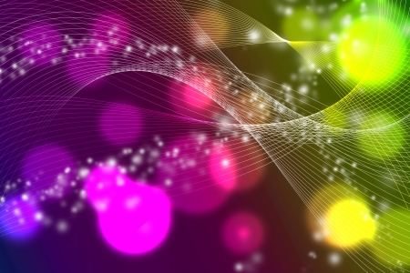 blur color dots with hi-light lines abstract Stock Photo - 18310685