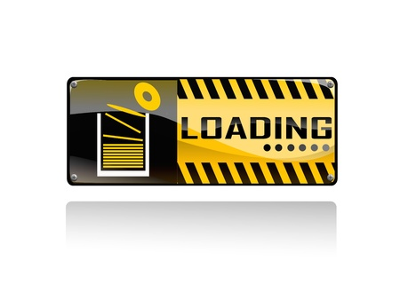 loading sign on white background Stock Vector - 18513570
