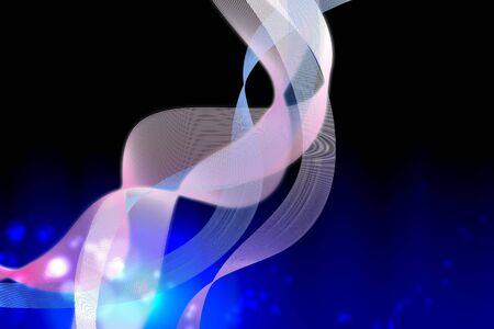 line curve splash on dark blue blackground Stock Photo - 18622041