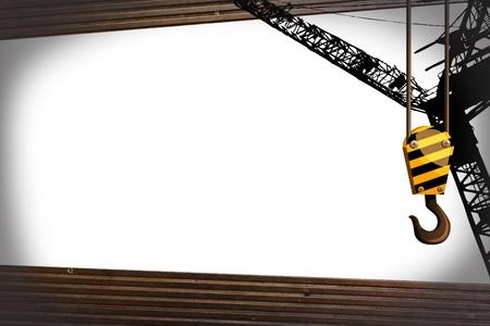 hoist: crane hook with metalic object template Stock Photo