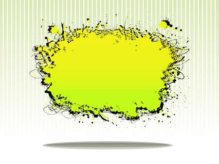 color splash template on green vintage line pattern Illustration