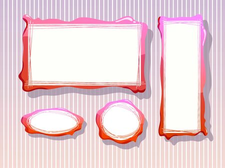 pink frames Stock Vector - 18622064