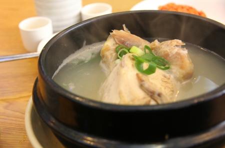 side dish,chicken soup,korea food Reklamní fotografie
